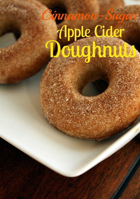 Cinnamon Sugar Apple Cider Doughnuts Baked Recipe Baked Doughnuts Apple Recipes Recipes