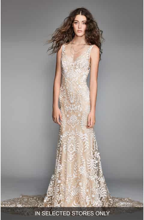 Image Result For Lace Wedding Dress With Taupe Underlay Kyleigh
