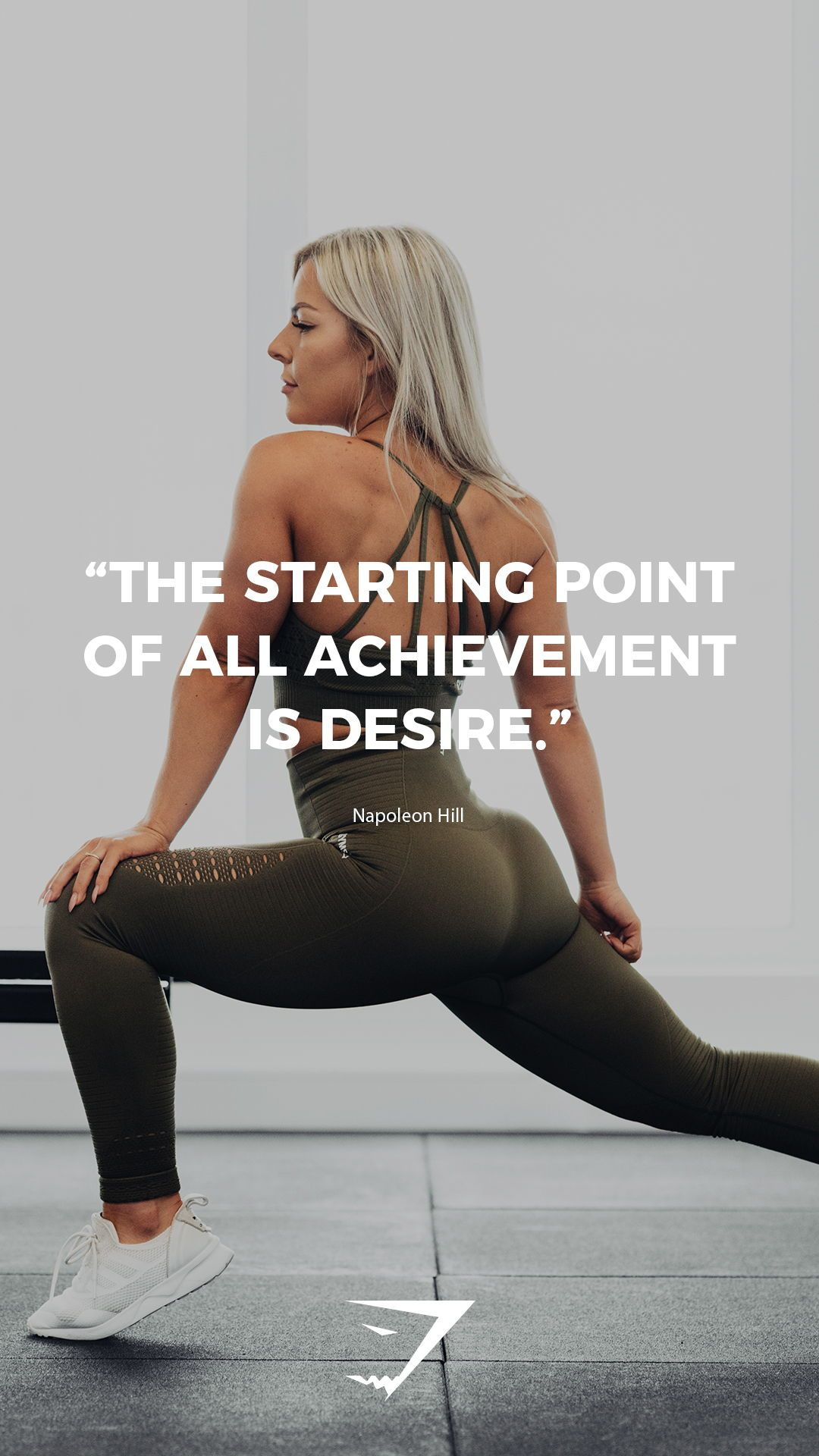 The Starting Point Of All Achievement Is Desire Napoleon Hill Gymshark Quote