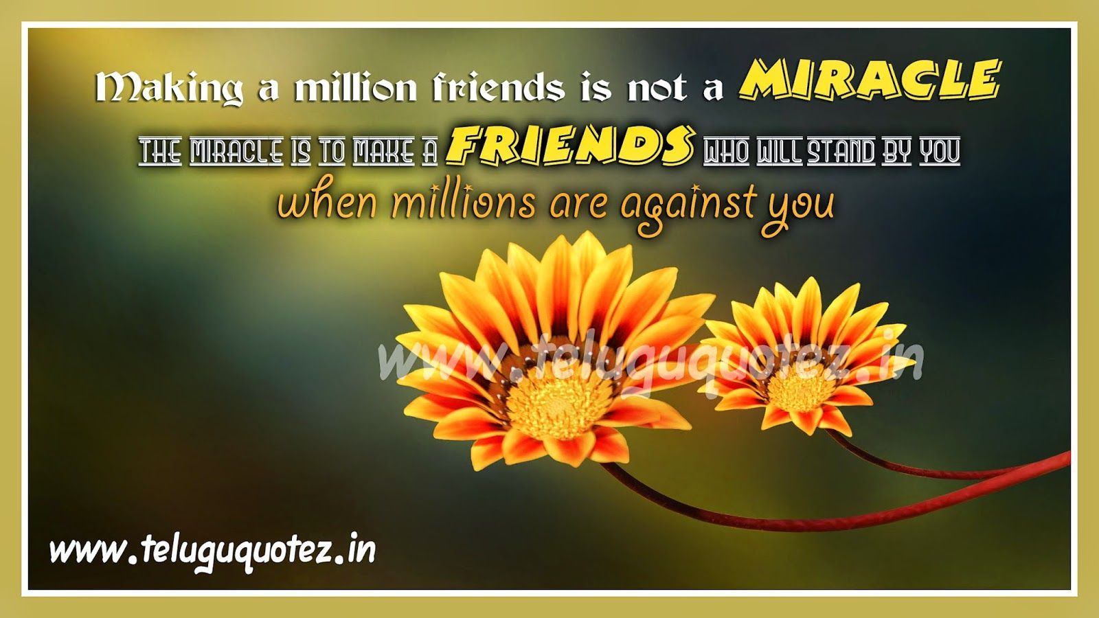 Teluguquotez Inspirational Friendship Quotes Hd Wallpapers