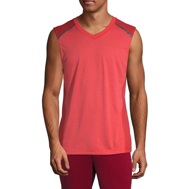 1b69ddcebe19 Msx By Michael Strahan Mens V Neck Sleeveless Moisture Wicking Muscle T- Shirt