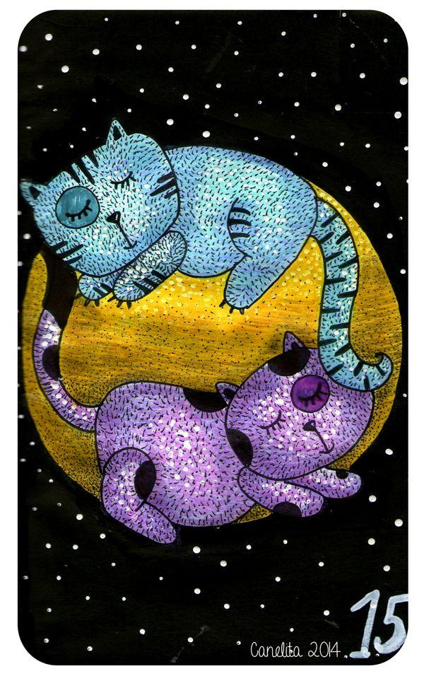 15/01/2014 Y jugamos a ser dos gatos que no se quieren dormir.