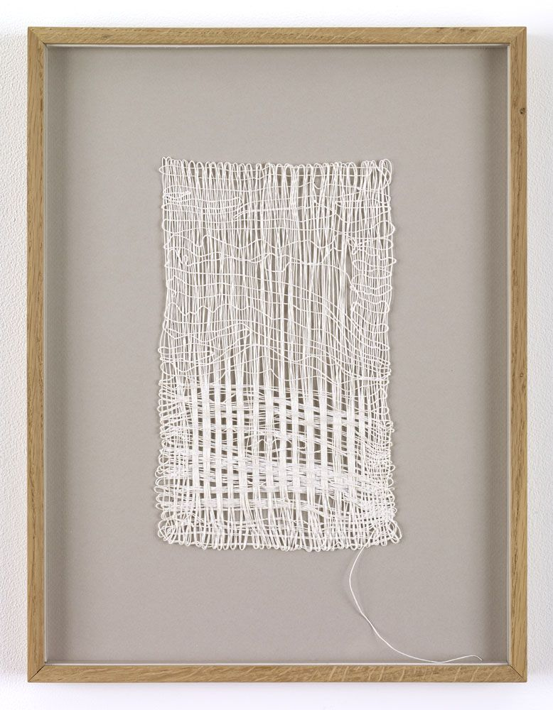 Sikkema Jenkins Co.  SHEILA HICKS Loosely Speaking, 1988 Linen 10 x 6 inches 25.4 x 15.2 cm