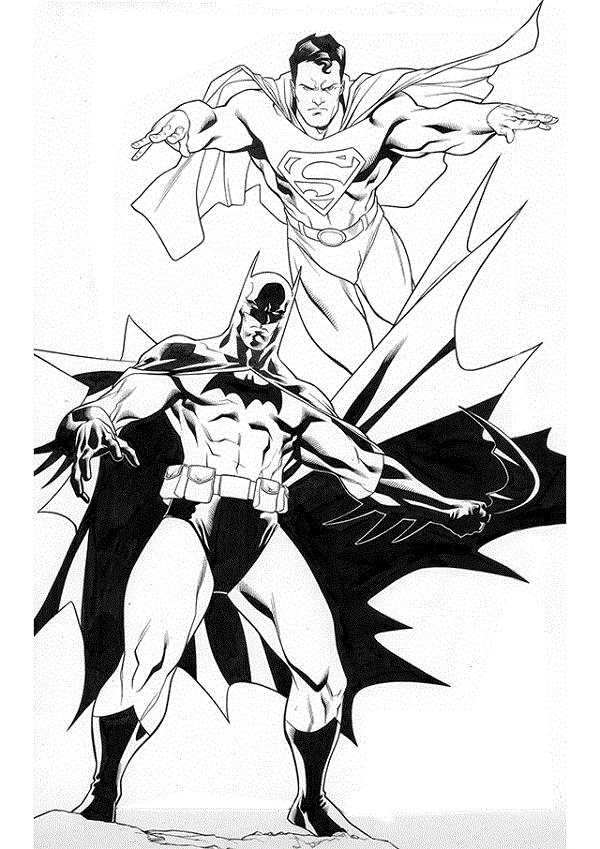 Ausmalbilder Kostenlos Superman Batman Ausmalbilder Superman