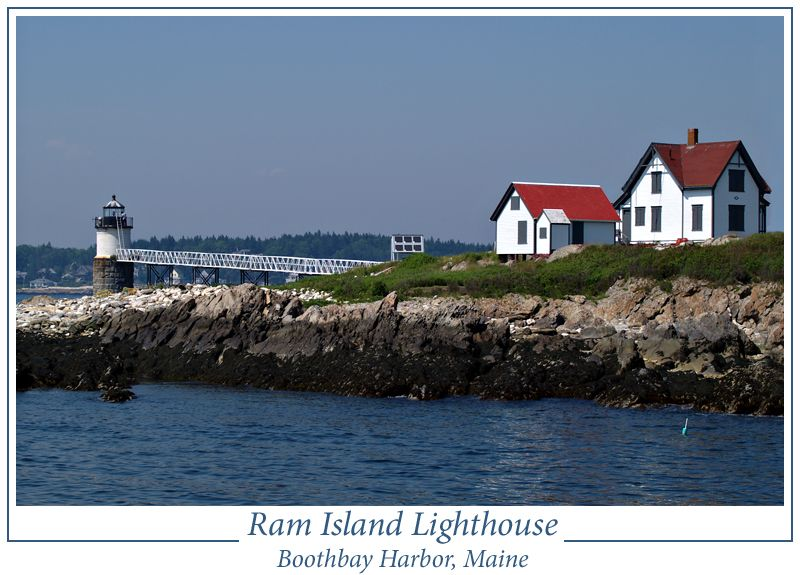 Ram Island Lighthouse on the East mouth of Boothbay Harbor.