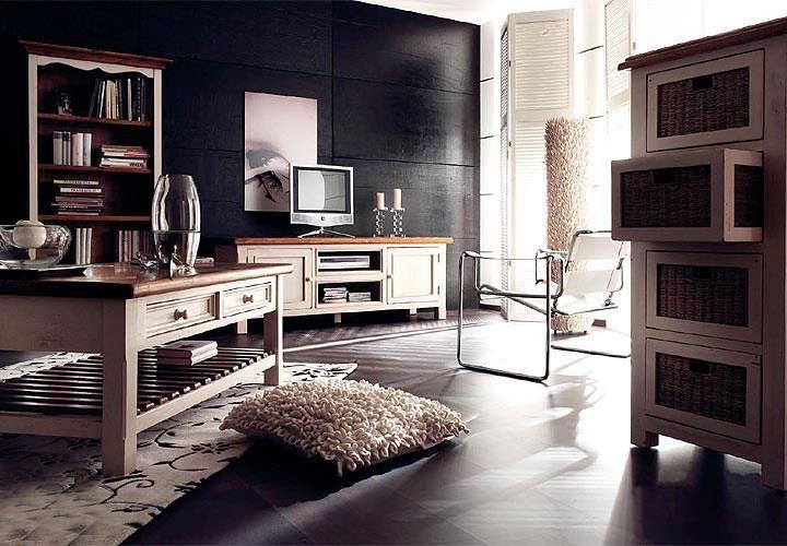 Esstisch Bodde Landhaus Tisch Kiefer Massiv Weiß Honig 180x90