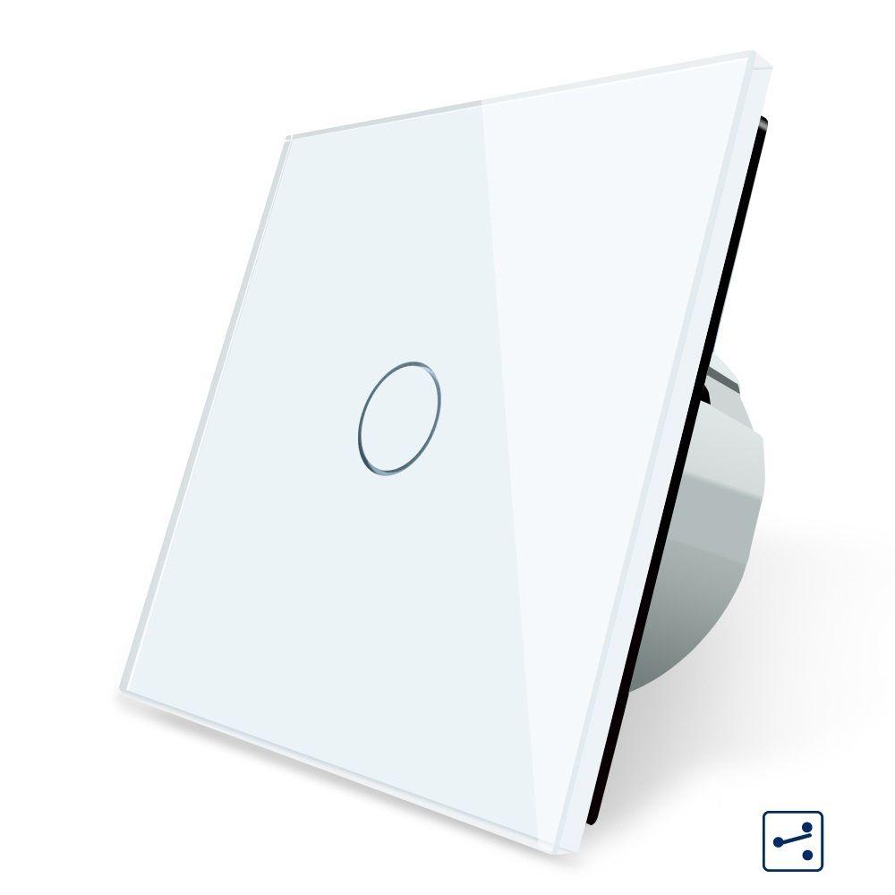 2017 Smart Home Eu Standard Wall Switch 1 Gang 2 Way Control Crystal Glass Panel Wall Light Touch Screen Switch Light Switch Glass Panels Glass Panel Wall