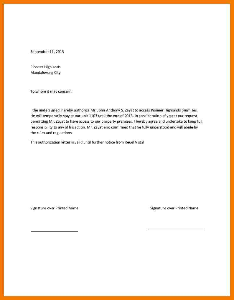 Authorization Letter Claiming Documents Parents Consent