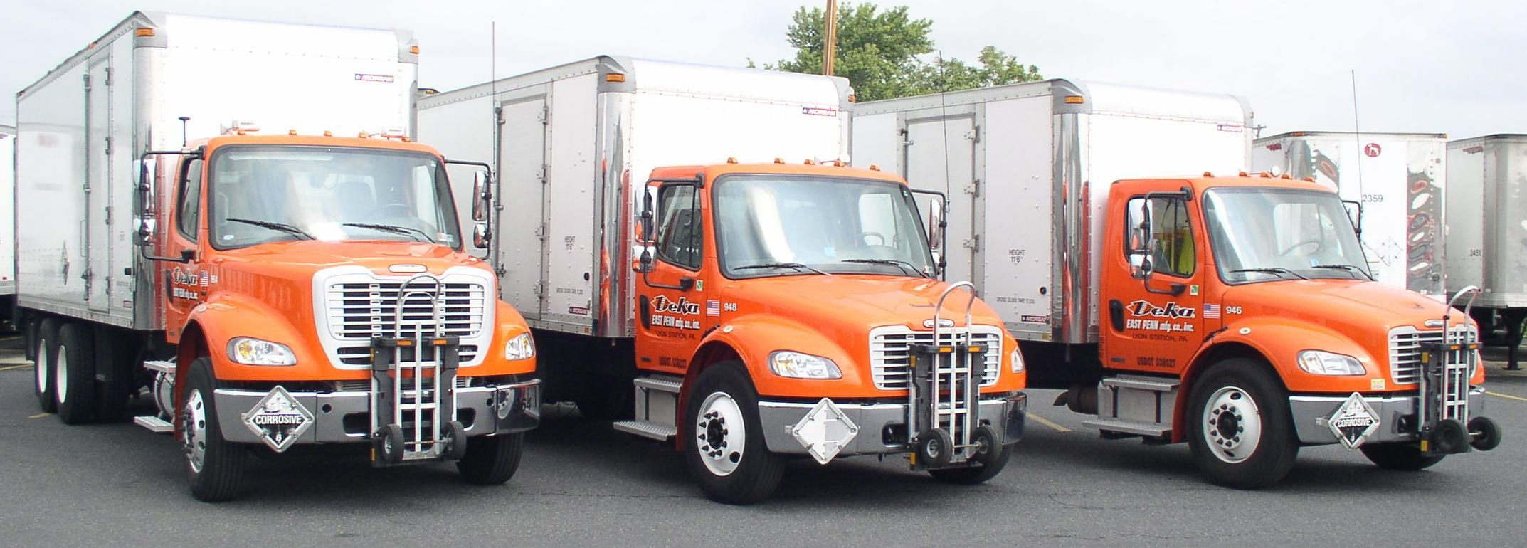 Easy Penn Manufacturing Deka Batteries Freightliner M2 Route Delivery Trucks With Morgan Truck Bodies And Hts Systems Hand Trucks Trucks Food Delivery Truck