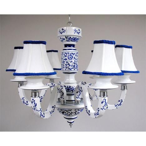 Blue white ceramic chandelier for pantry hall blue white blue white ceramic chandelier for pantry hall aloadofball Images