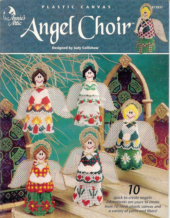 Plastic Canvas Patterns Four Seasons Angels by Annie/'s Attic 1997 Home Decor