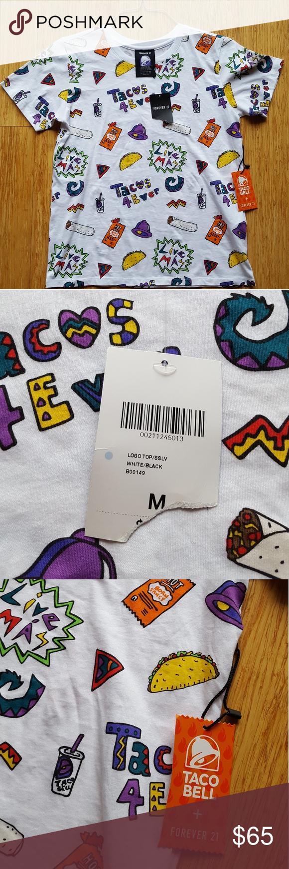 Rare Forever 21 Taco Bell Medium Shirt Tee NWT NWT (With