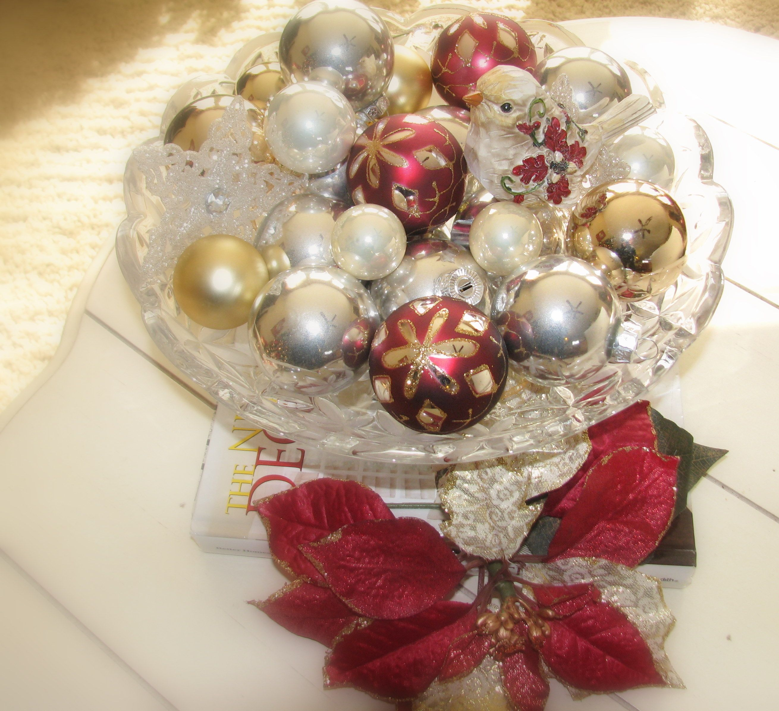 Another View Of Coffee Table Decorations Decorating Coffee Tables Christmas Decorations All Things Christmas