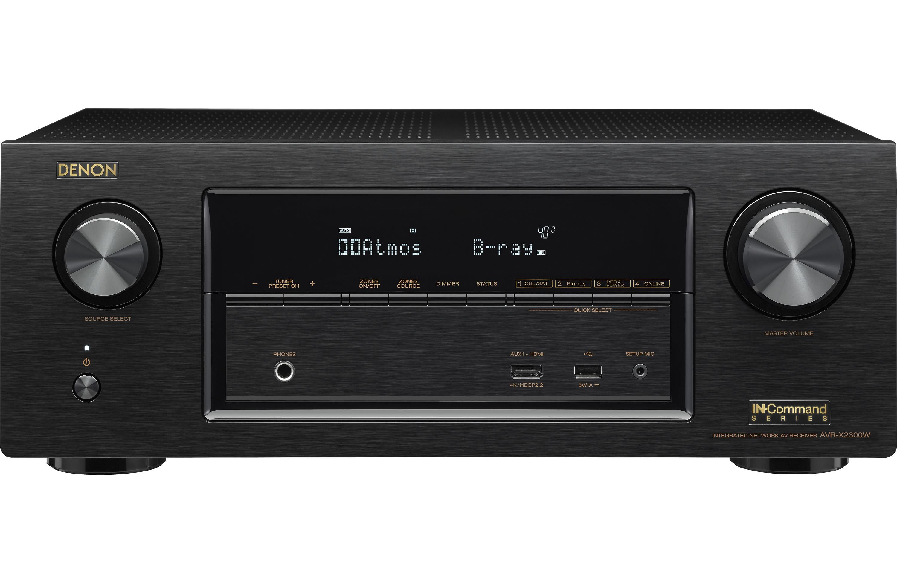 Denon AVR-X2300W 7 2-channel home theater receiver with Wi