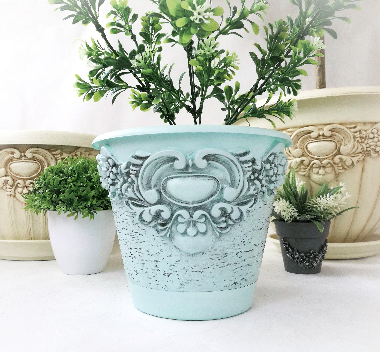 Flower Pot Vintage Planter House Plant Farmhouse Decor Etsy In 2020 Flower Pots Vintage Flower Pots Vintage Planters