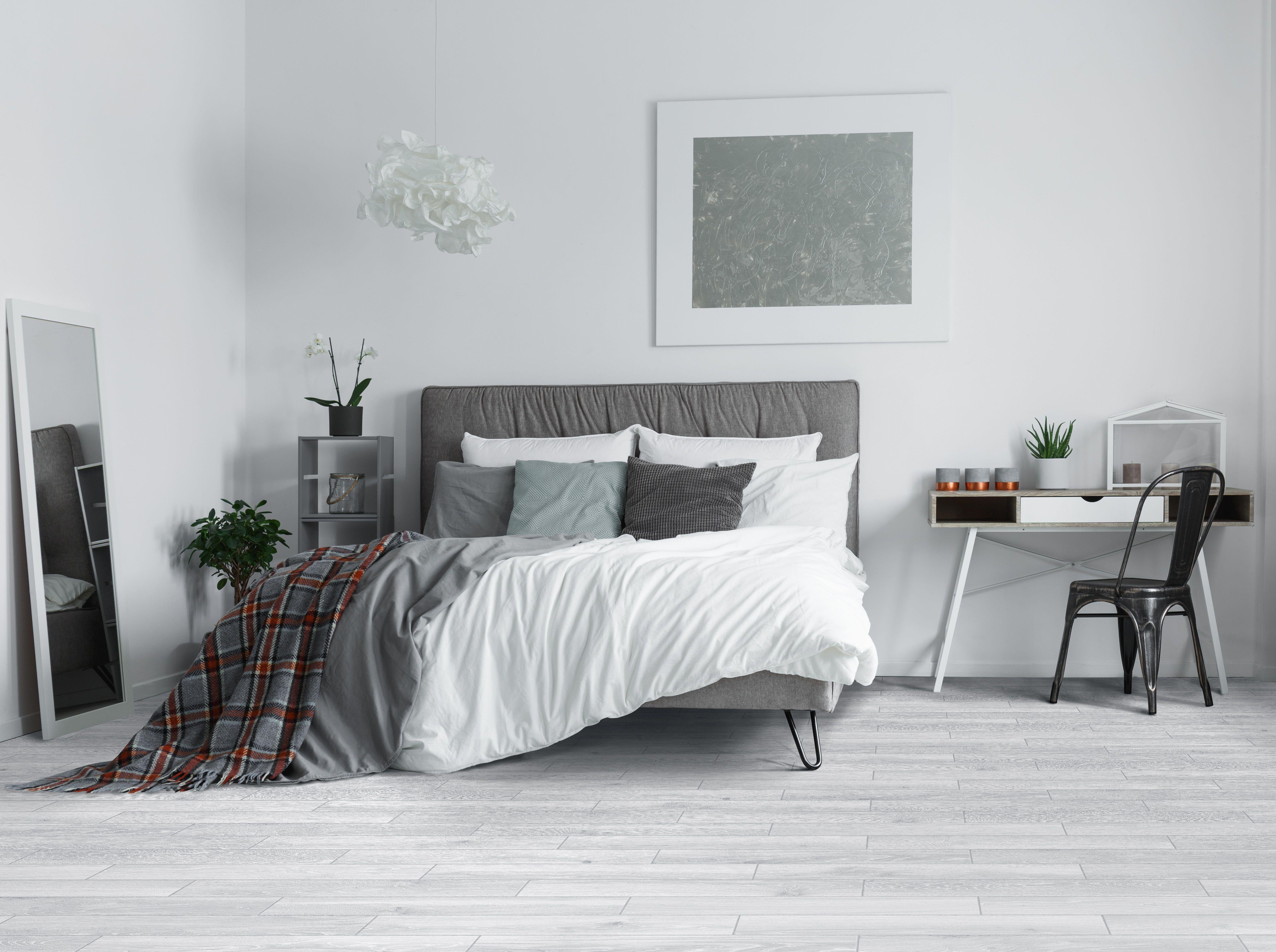 Gray wood tile  Grey wood floors bedroom, Floor decor, Grey flooring