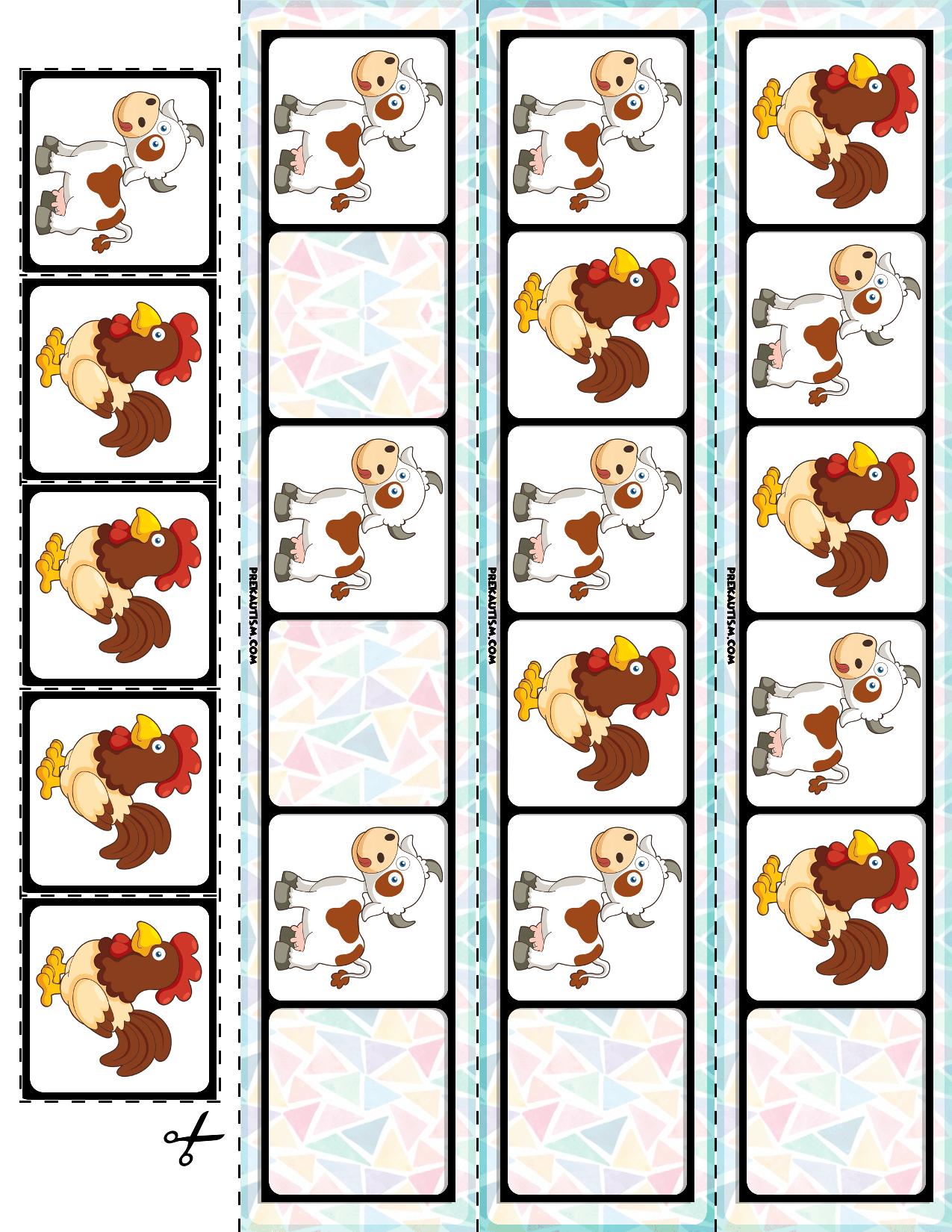 Farm Animals Ab Pattern Cards