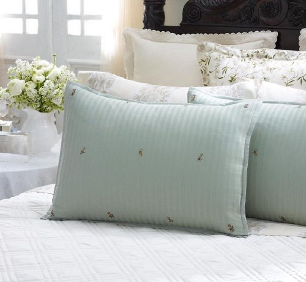Set of 2 Square Other Size Pillow Sham Pair 650 TC Cotton Solid in White N Black