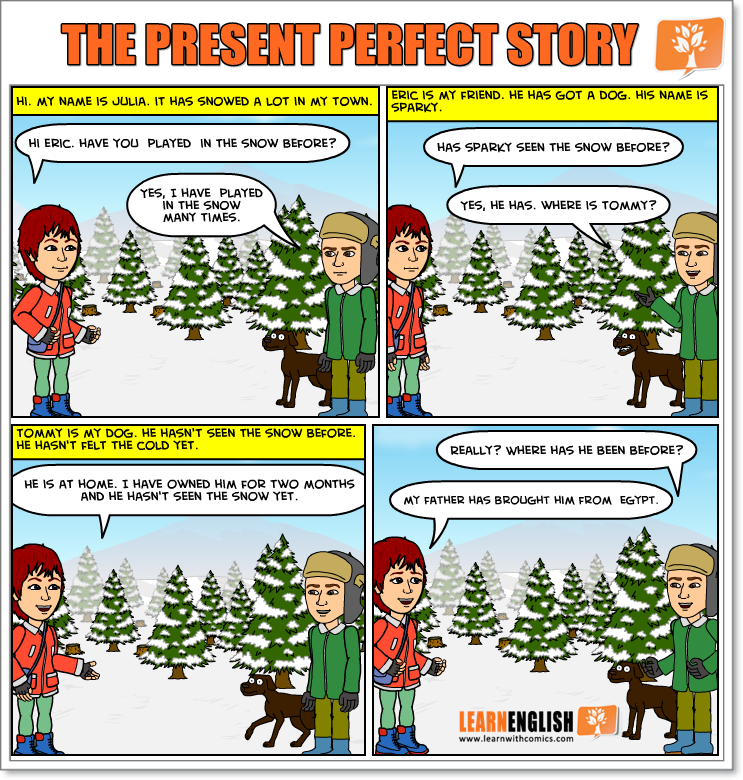 The present perfect story   Learn English With Comics ...