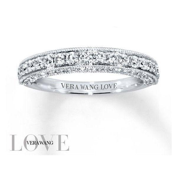 Vera Wang LOVE Wedding Band 34 ct tw Diamonds 14K White Gold