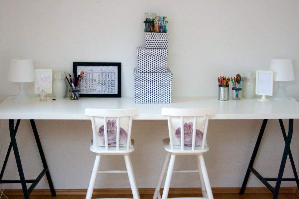 Schreibtischplatte ikea  Ein DIY-Schreibtisch für Kinder von Ikea | Kinderzimmer ...