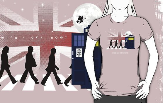 Beatles feat. Dr.Who - Mash Up t-shirt