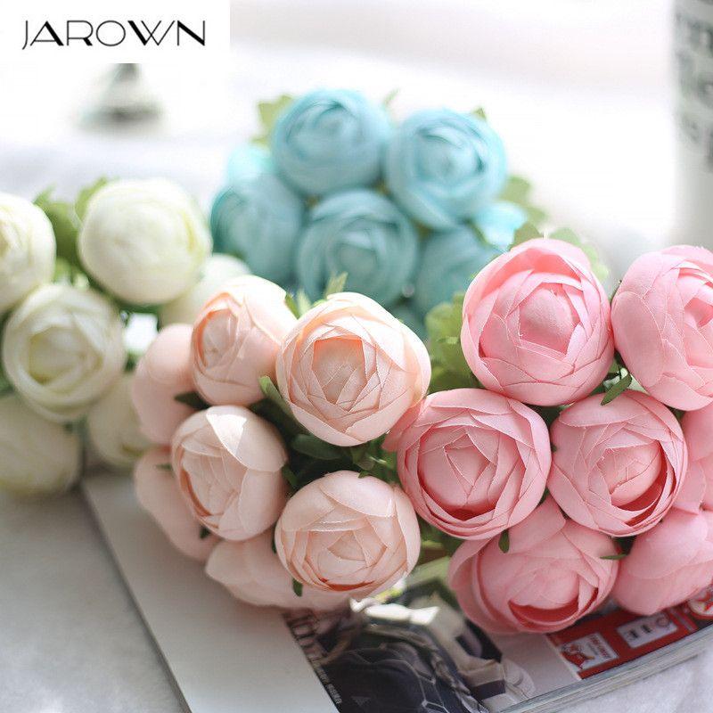 Daisy Pink Silk Artificial Fake Flowers Bouquet Peony Bride Wedding Home Decor