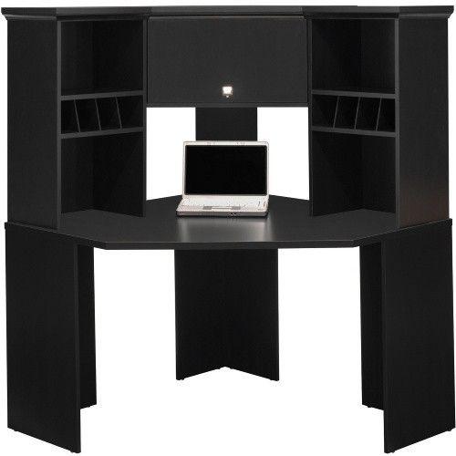 Black Corner Desk With Hutch, Corner Desk Black