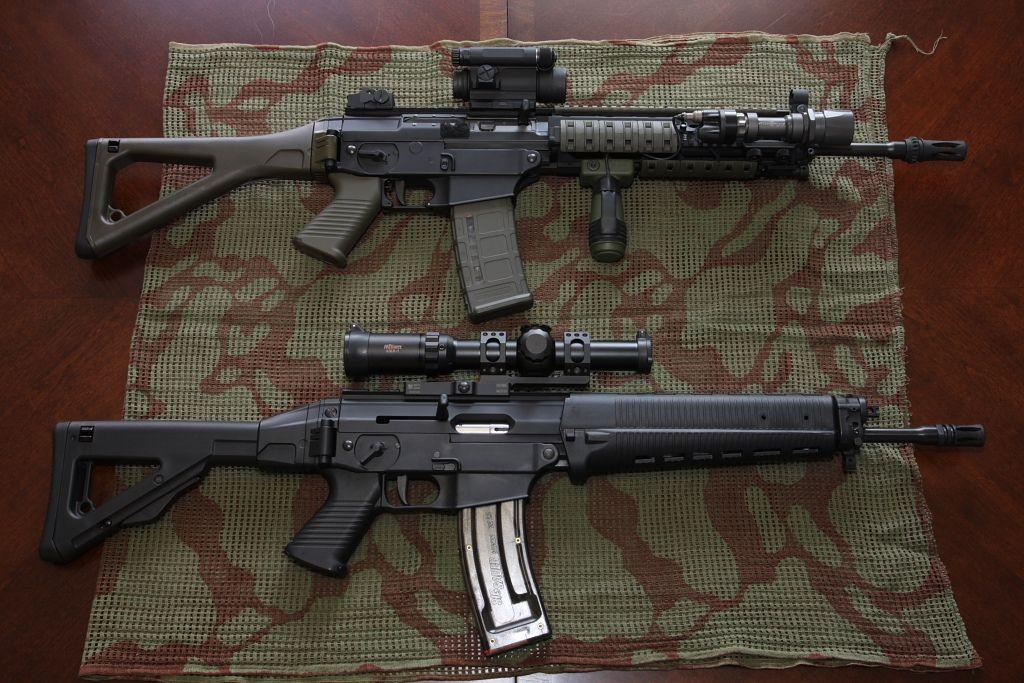 SIG 556 Classic SWAT & SIG 522 | Guns & Ammo | Guns, ammo ...