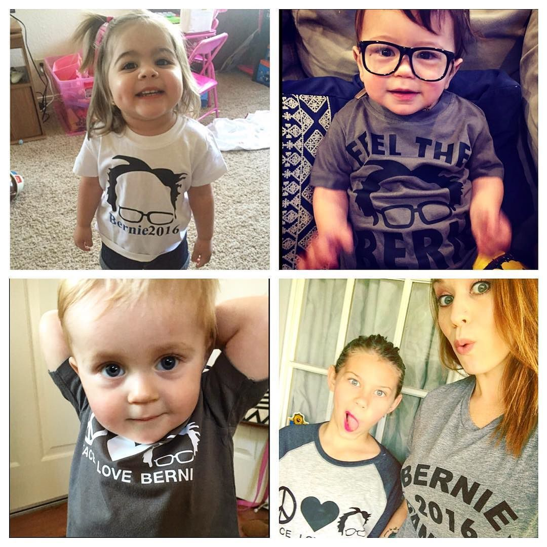 Loooooving your tags and posts of your little ones wearing our Bernie tees!!! No matter who you are voting for you have to admit that the democratic process has never looked so adorable  #ConsciousKids #politicaltees #democratictees #feministtees #politicaltshirts #democratictshirts #bernietees #bernietshirts #feministtesgurt #Babiesforbernie #KidsforBernie #feelthebern #peacelovebernie #berniesanders #bernie2016