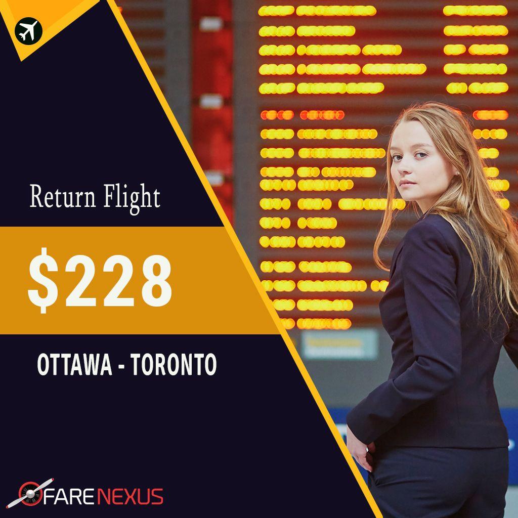 Book Return Flight Ticket OttawaToronto fares are