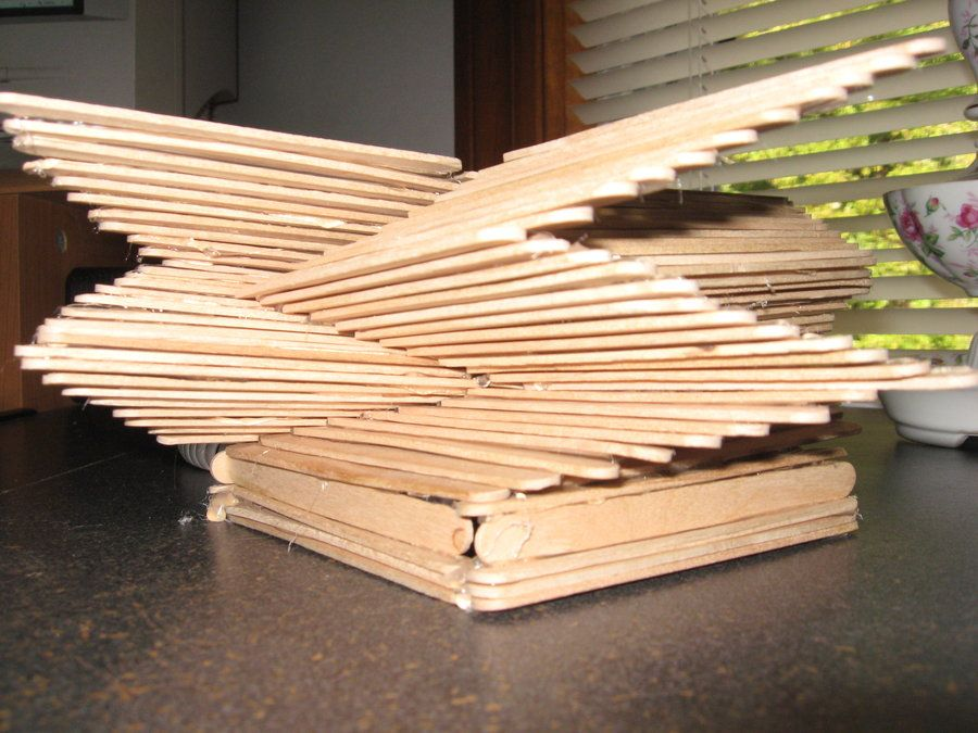 how to build a structure out of popsicle sticks