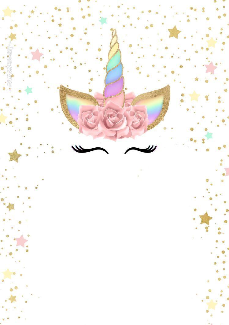 Tarjetas Tarjetas De Unicornio Invitacion De Unicornio Y