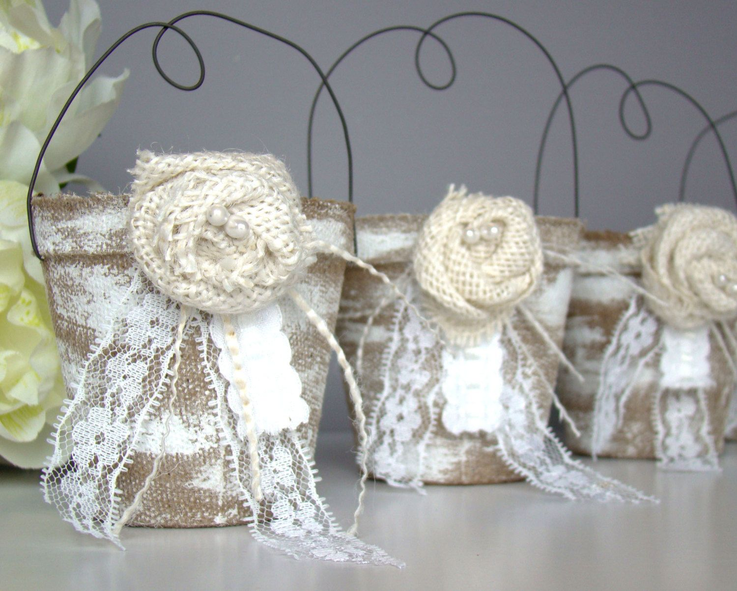 Rustic Wedding Favor Bag, Container, Country, Vintage, Party Favor ...