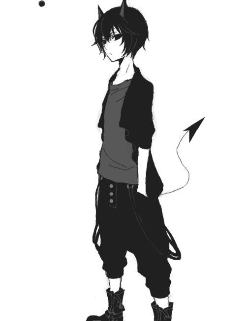Happy Anime Boy Tumblr Google Search Anime Demon Boy Cute