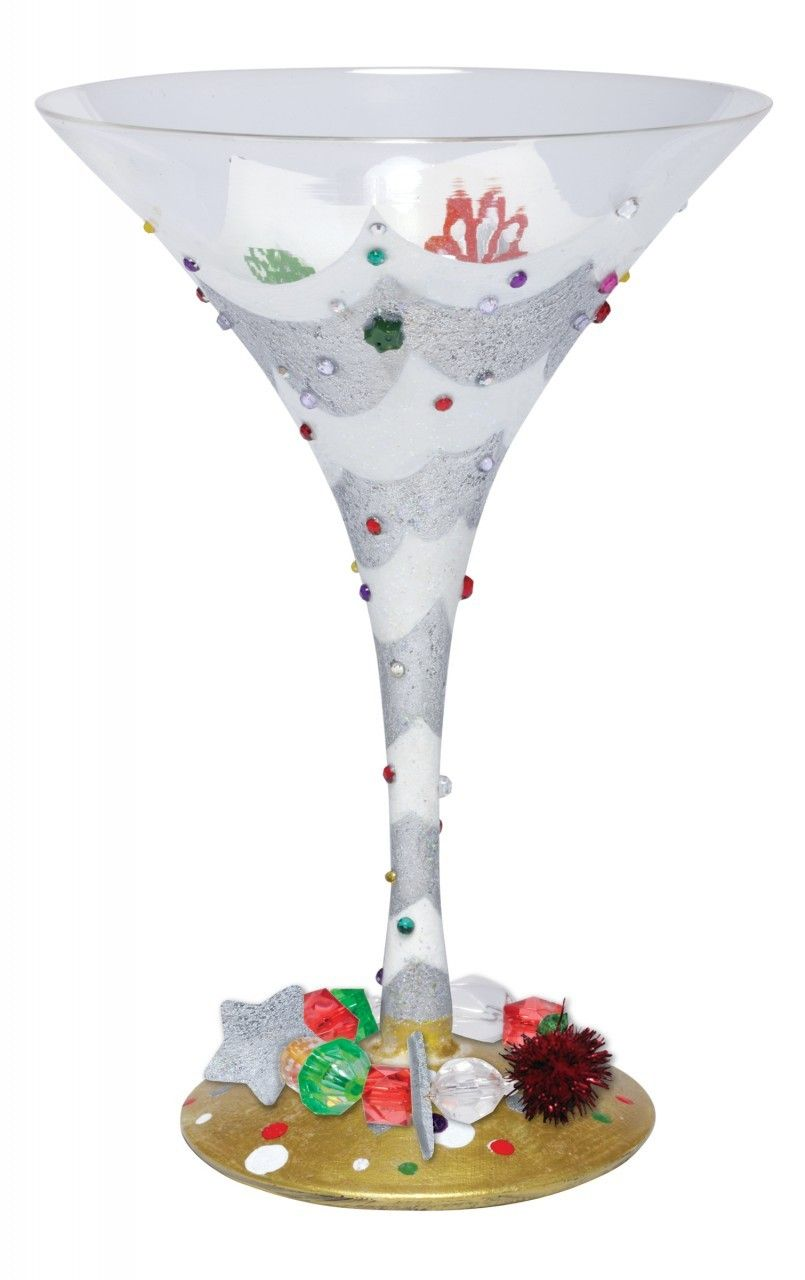painted martini glasses christmas lolita another tipsy christmas martini glass retired limediva - Christmas Martini Glasses