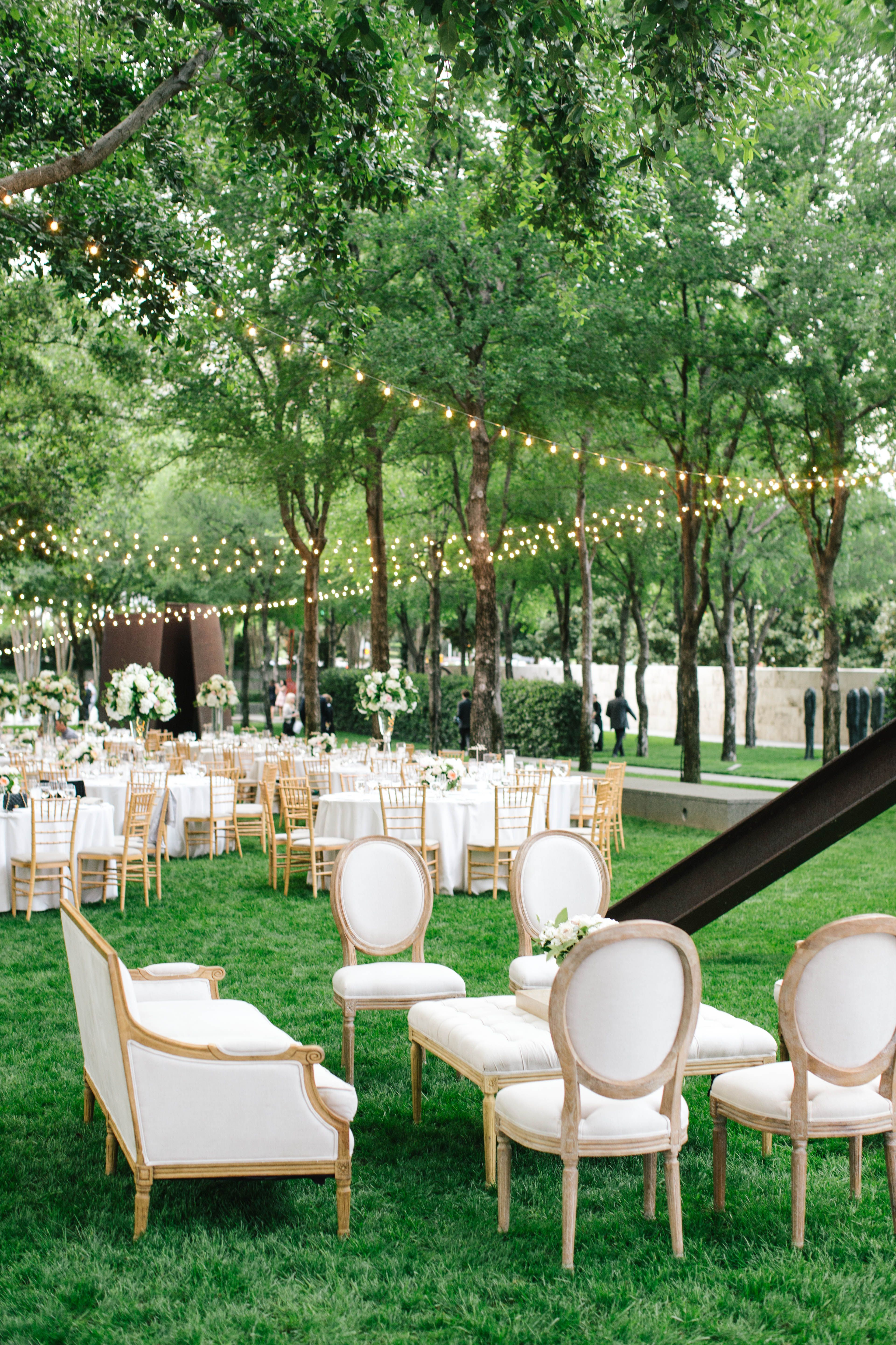 All white everything for this wedding reception at The