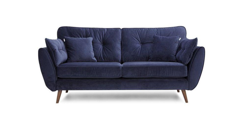 Zinc 4 Seater Sofa Blue Sofas Living Room Navy Sofa Living Room Dfs Zinc Sofa