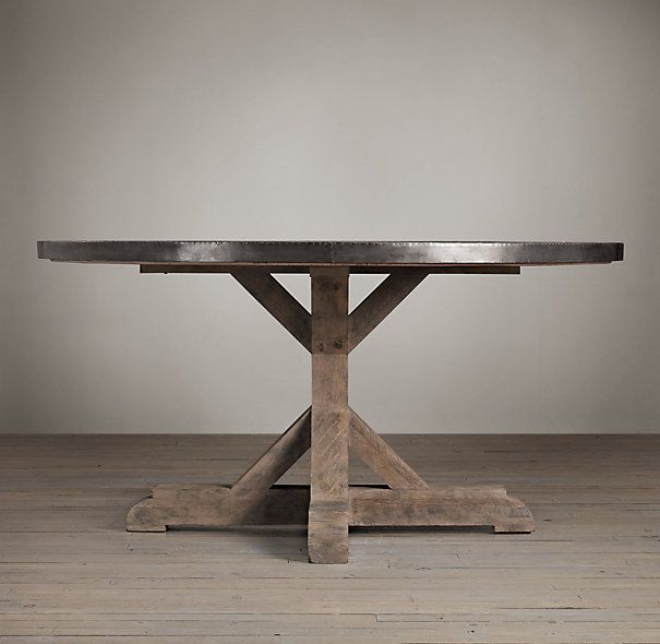 Railroad Tie Round Dining Table | Round Dining Tables | Restoration Hardware - Railroad Tie Round Dining Table Round Dining Tables