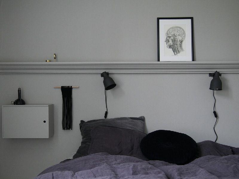 Maiju Saw -blogin Maiju maalasi trendikkään makuuhuoneen sävyllä Valamo.