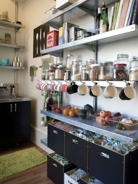 organizing ideas for small spaces at lamps plus small space living small space kitchen on kitchen organization small space id=35730