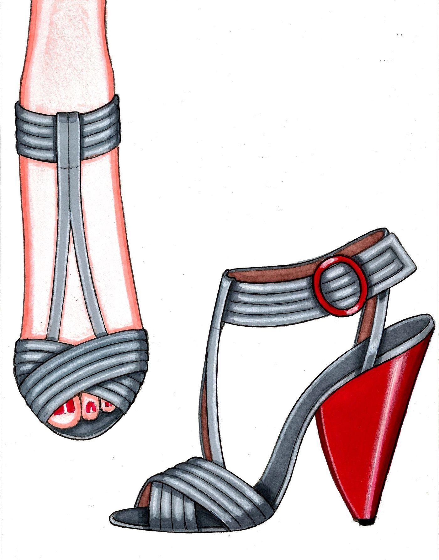 Pin su ilustraciones de zapatos