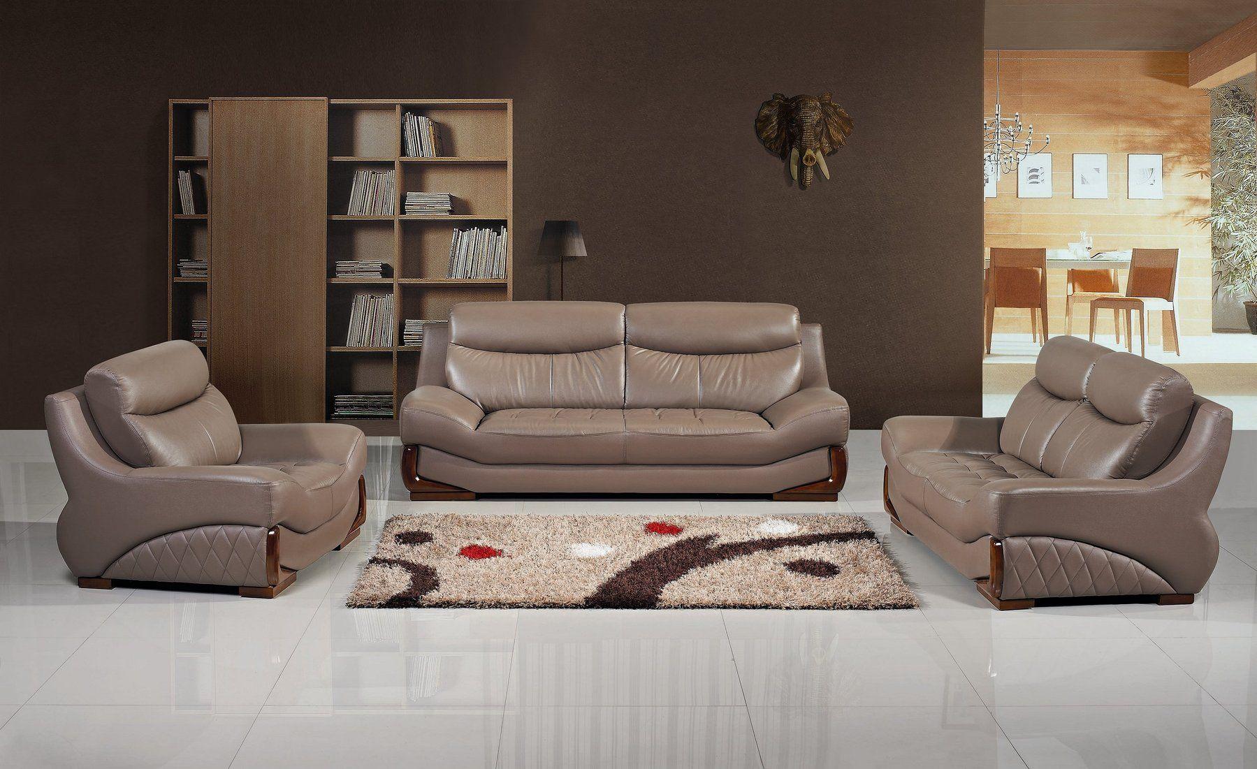 San Marino 3 Pc Leather Living Room Set Living Room Leather