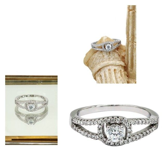 """""""Fashion small crystal eye silver ring"""" by oceanfashion on Polyvore"""