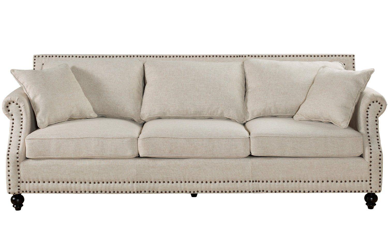Best Amazon Com Camden Beige Linen Sofa Furniture Decor Beige Sofa Linen Sofa Furniture 400 x 300