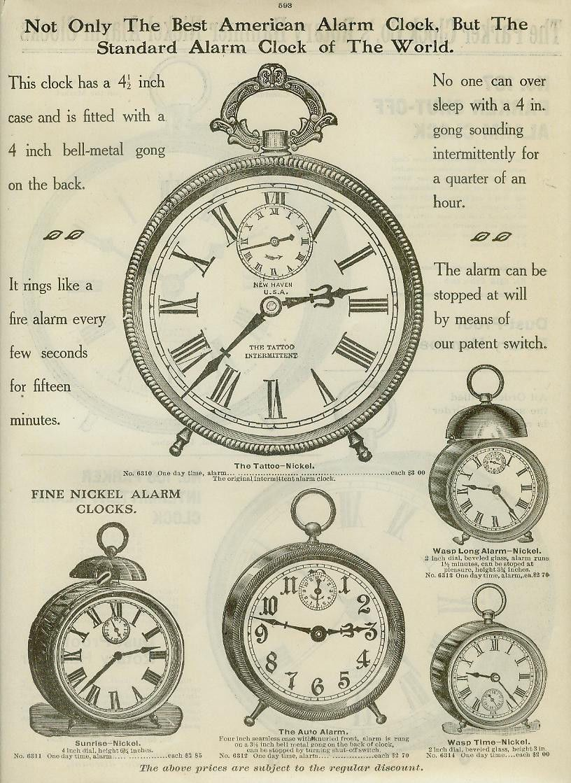 Catalog Page Ad American Alarm Clock