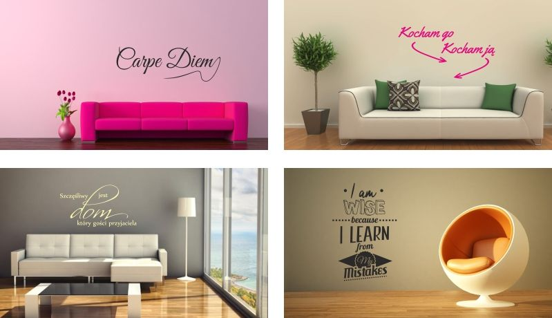 Naklejki Scienne Napisy Cytaty Na Sciane 100x150cm Home Decor Decor Design
