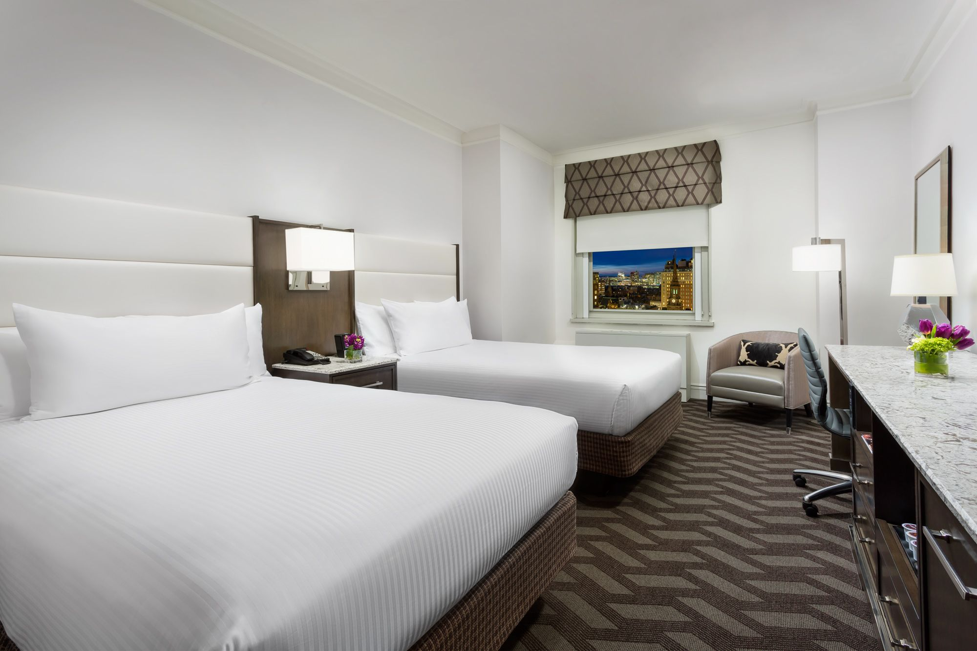 Superior Two Double Bed Guestroom At Boston Park Plaza Hotels Room Best Hotels In Boston Boston Hotels