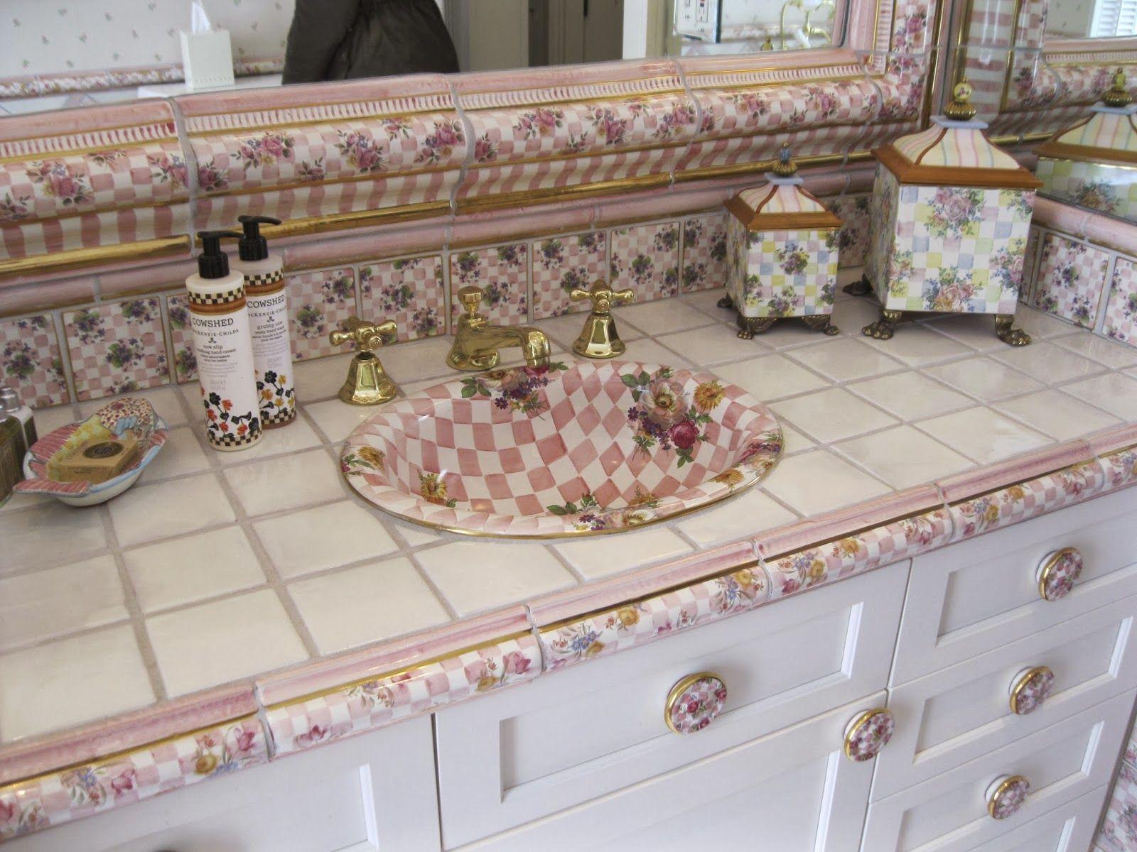 MacKenzie Childs Bathroom Decor.