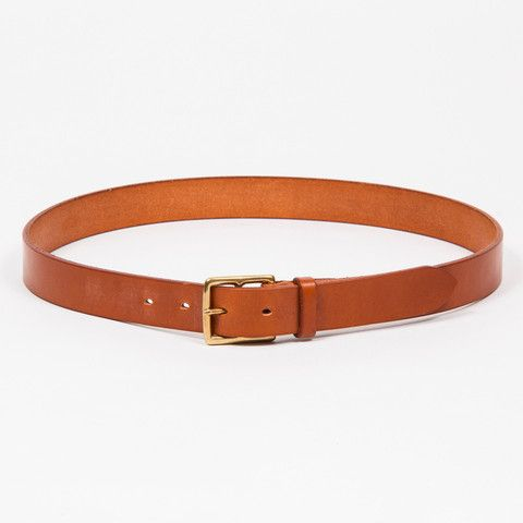 UNLINED LEATHER BELT // TAN